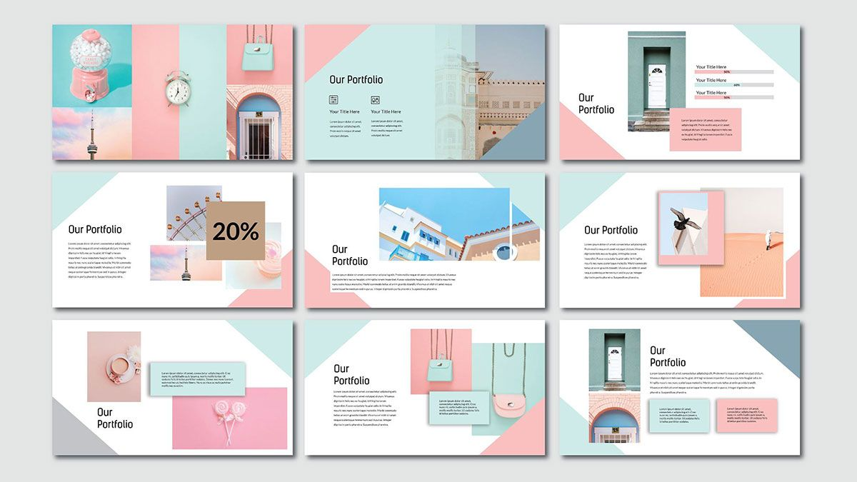Pink pastel free powerpoint template slide 4 | Color Play