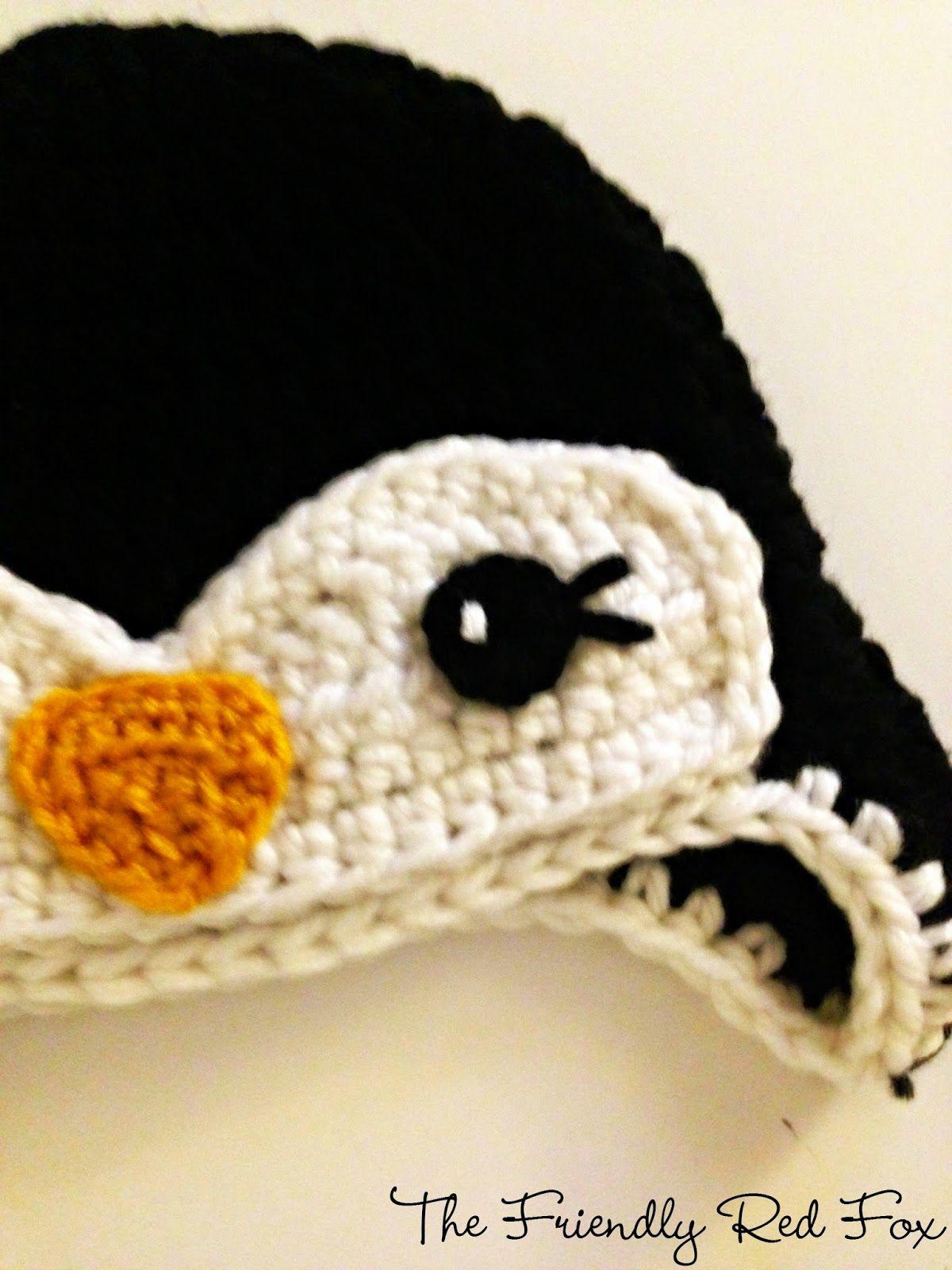 Free Penguin Crochet Hat Pattern | Pinterest | Mütze, Mütze häkeln ...