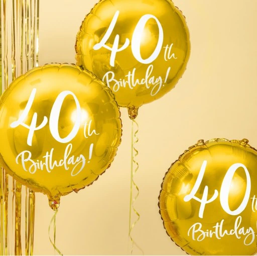 Balon Foliowy Zloty Na 40 Urodziny 30th Birthday Christmas Ornaments Birthday