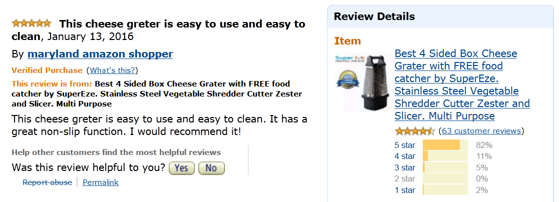 This #cheese #grater is easy to use and easy to clean. It has a great #non-slip function. I would #recommend it!