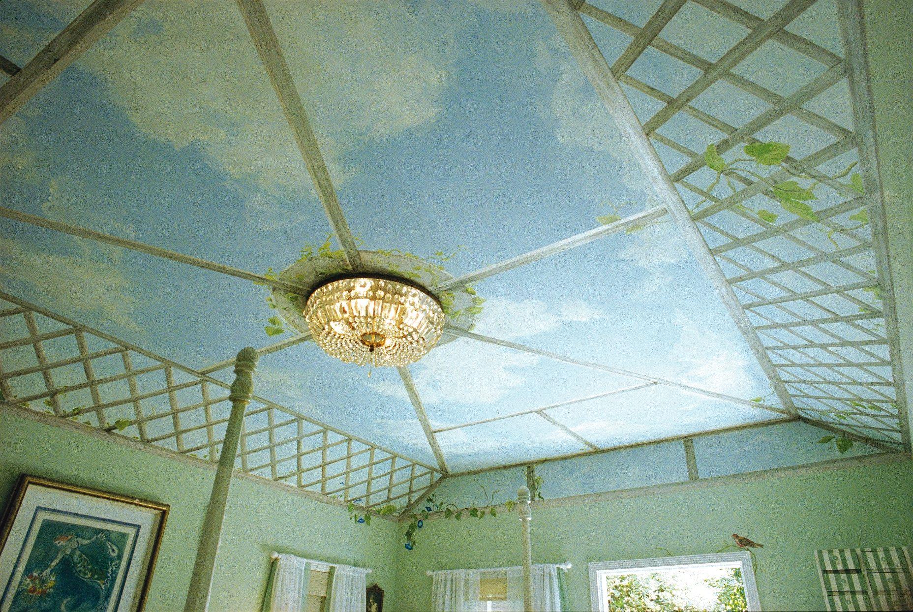 Lovely idea for bedroom ceiling...