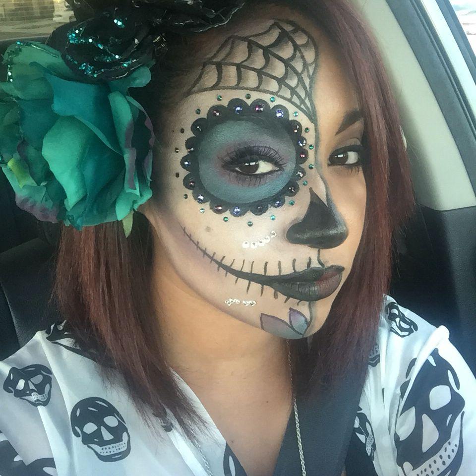Day of the Dead MakeUp/ Sugar skull make up Sugar skull