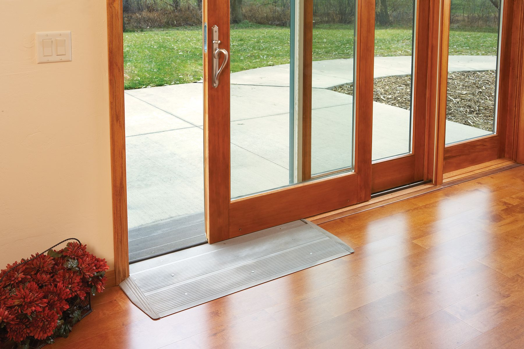 Easy Access Low Threshold Exterior Sliding Must Be 75 H Or