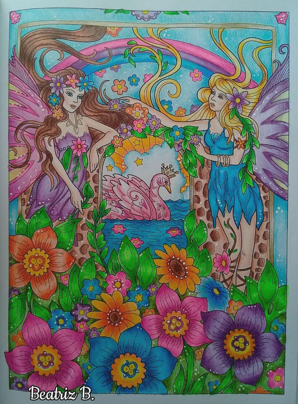 magical fairies marjorie sarnat art in 2019 fairy coloring coloring books color me beautiful. Black Bedroom Furniture Sets. Home Design Ideas