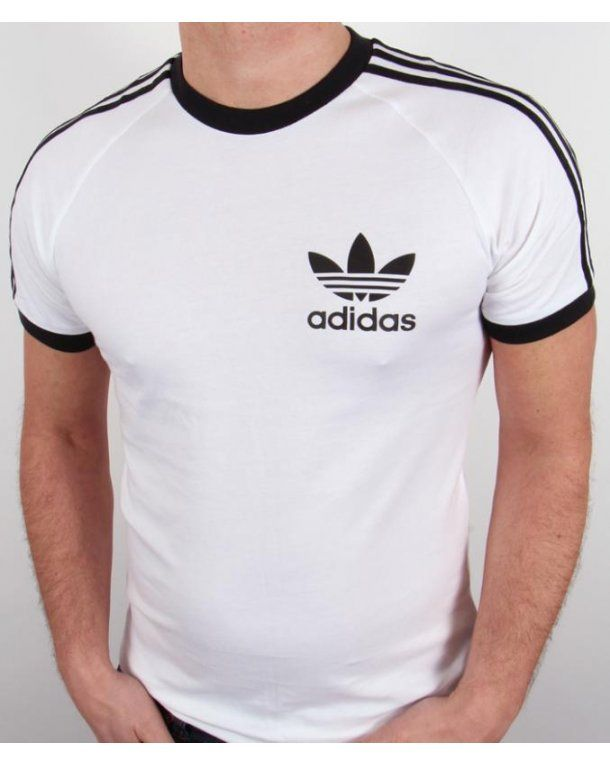 alegría Cinco tierra  Adidas Originals Trefoil 3 Stripes T-shirt White,retro,california,tee |  Ropa adidas, Sudadera adidas originals, Camisetas deportivas