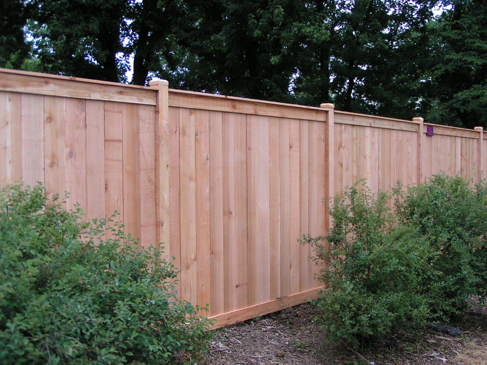 Stylish Pine Wood Unpolished Stockade Backyard Fence Ideas With
