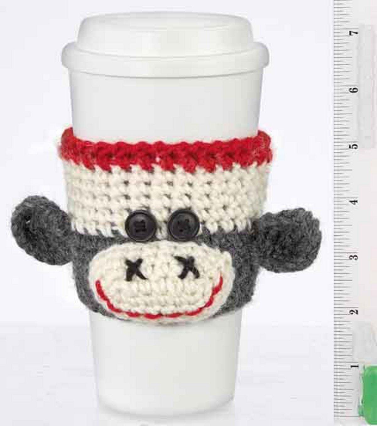 Monkey Cup Cozy free pattern | TEJIDOS Y CROCHET | Pinterest ...