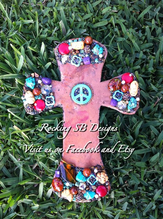 Distressed Copper Cross  Created using Copper by RockingSBDesigns, $55.00
