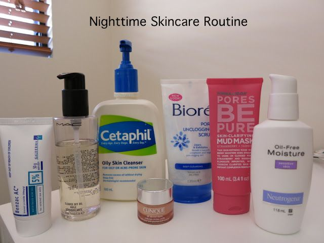 Nighttime Skincare Routine Combination Oily Skin With Images