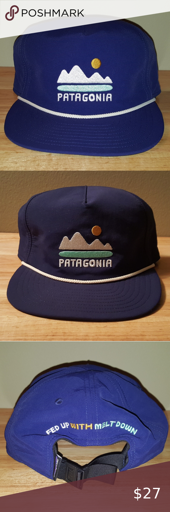 Patagonia Fed Up With Melt Down Strapback Hat Strapback Hats Patagonia Patagonia Mens