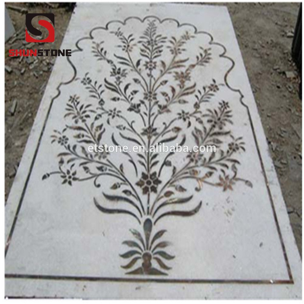 Flowering Tree Hand Made Marble Mosaic Tile Modern Art Wall Mural Decor Tile Marble Mosaic Medallion Find Co Marble Medallion Mosaic Medallion Inlay Flooring