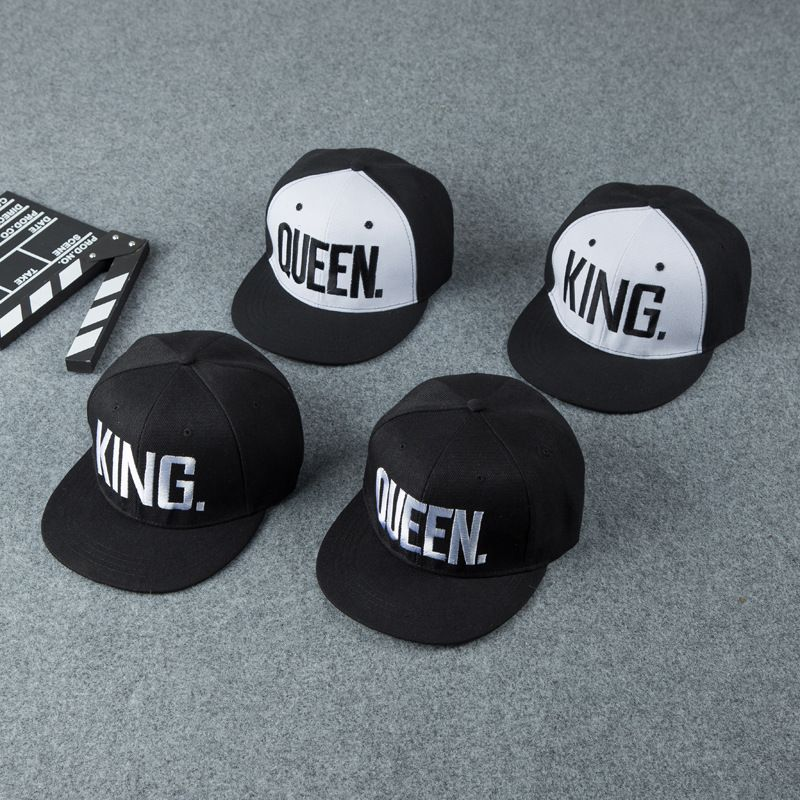 7bf14329bf8 Click to Buy     La MaxPa  Hot Sale KING QUEEN Embroidery Snapback ...