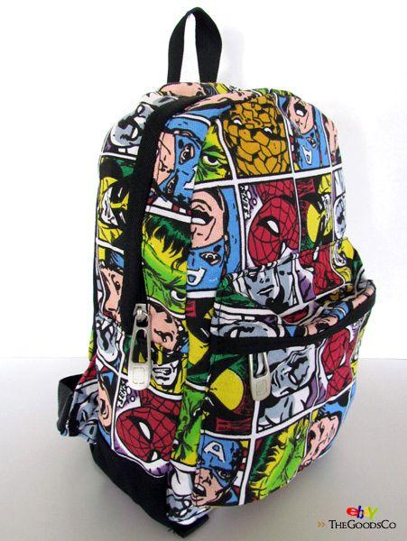 marvel bag | Marvel Comics Messenger Shoulder Book BAG Backpack DJ ...