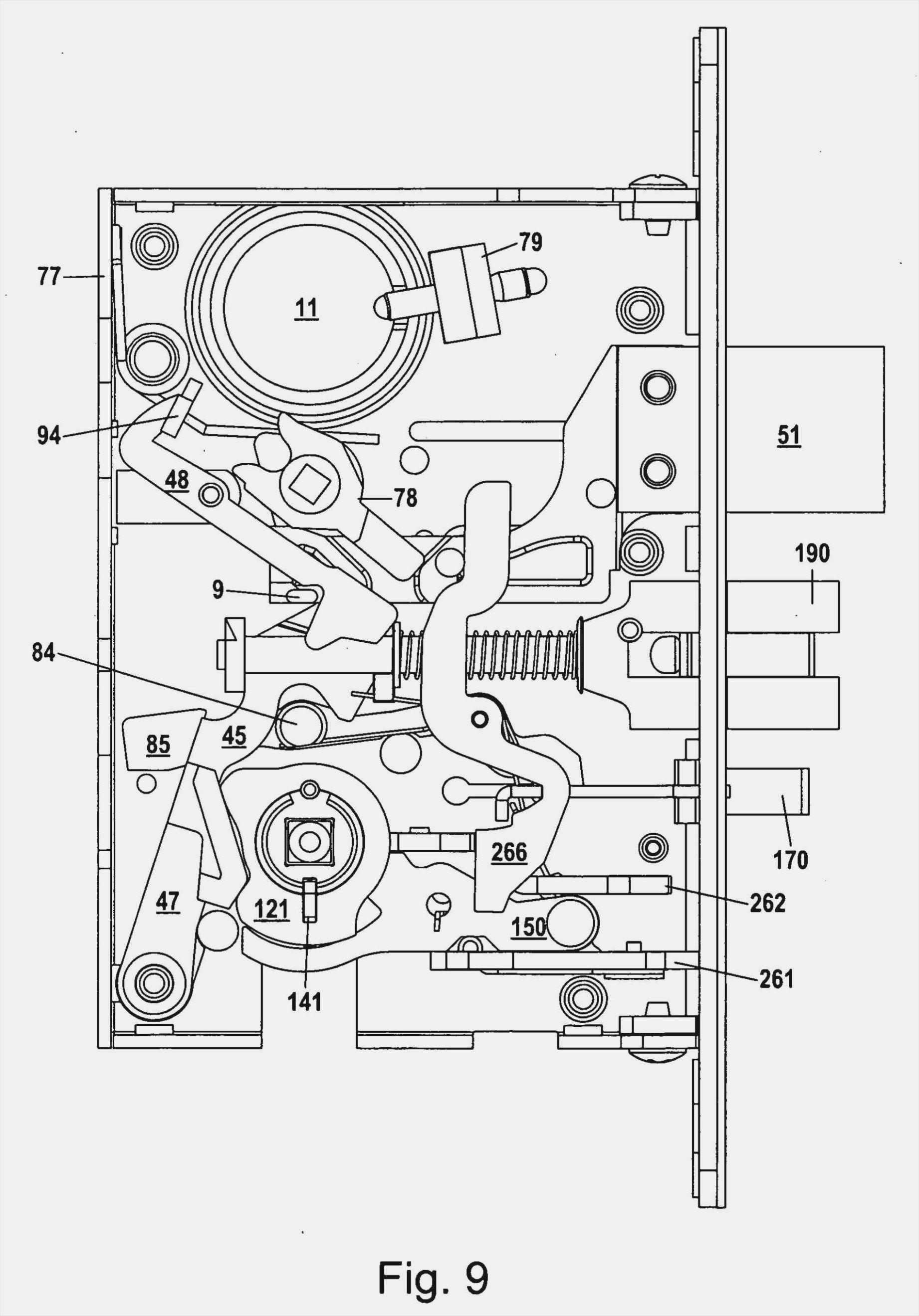 Corbin Mortise Lock Diagram