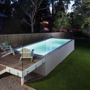Darlington concrete geometric pool above ground with - Above ground pool platform ...
