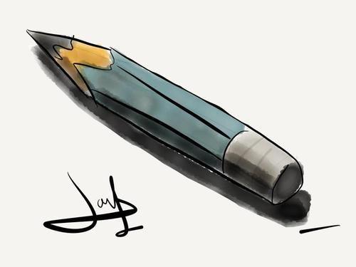 lápiz hecho en Ipad