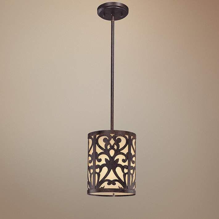 Nanti Collection Iron Oxide Mini Pendant Light