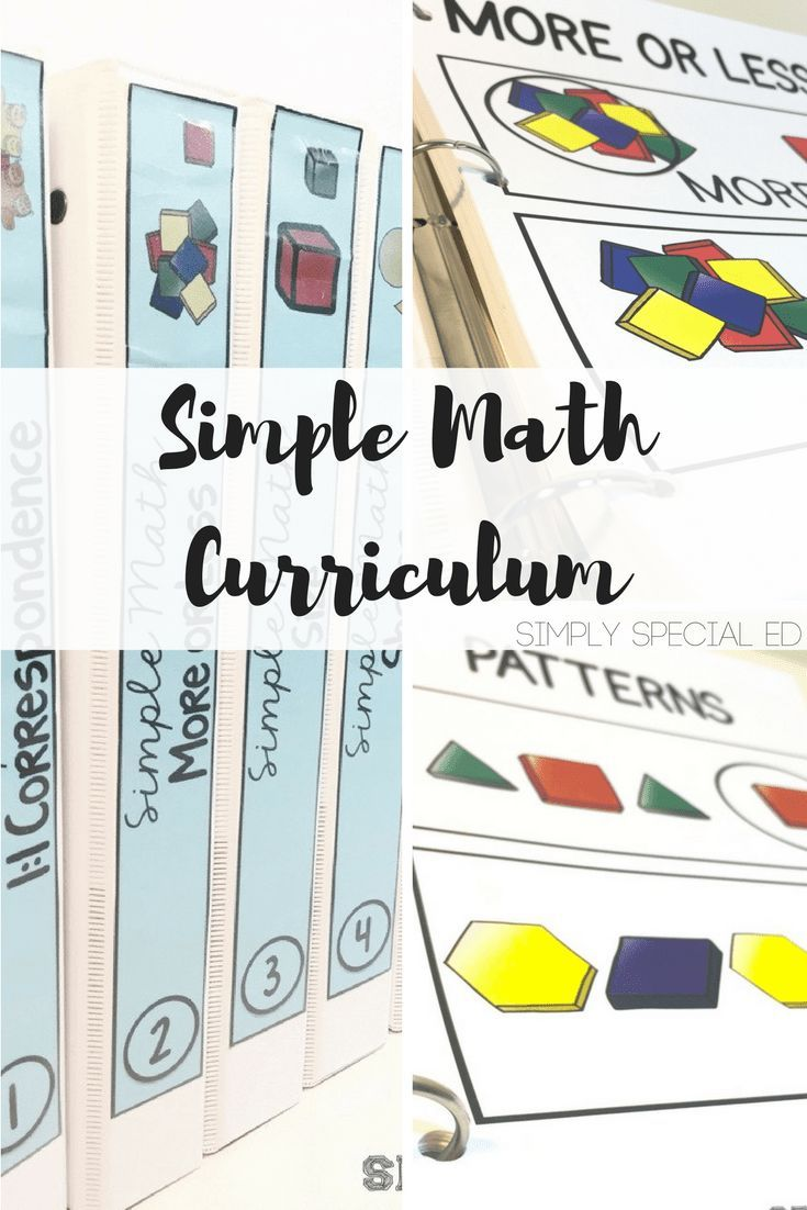 Simple Math 2 | Simple math, Special education and File folder