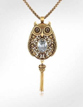 Owl, gold and sparkly: Love this!! Price might make it for the bride instead of the bridesmaids.