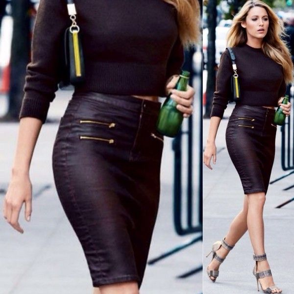 What to wear with a black mini pencil skirt – Modern skirts blog ...