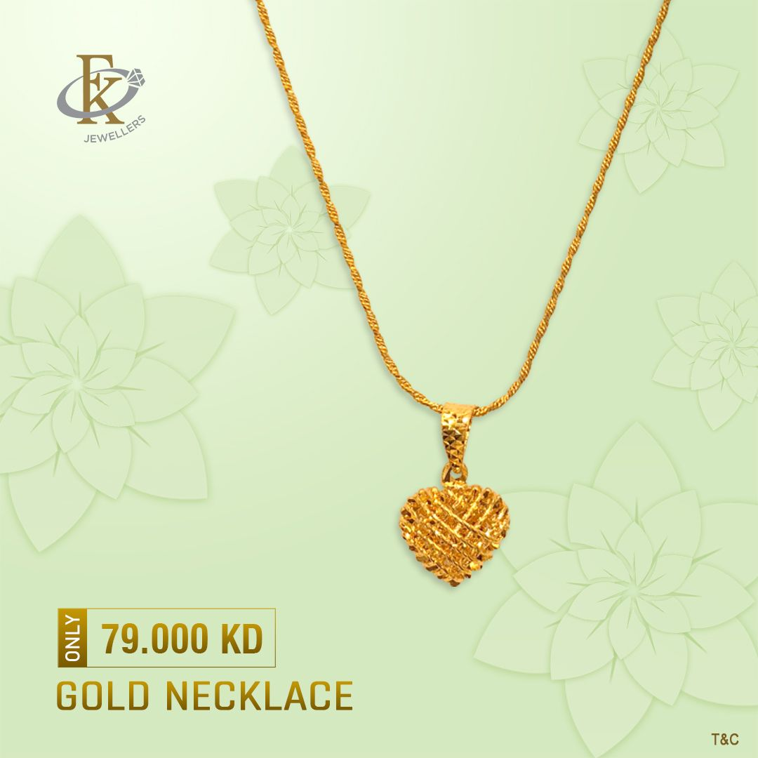 Choose Elegance With This Array Of Gold Pendant With Chain Product Type Gold Necklace Price 79 000kd Weig Gold Necklace Price Gold Necklace Necklace