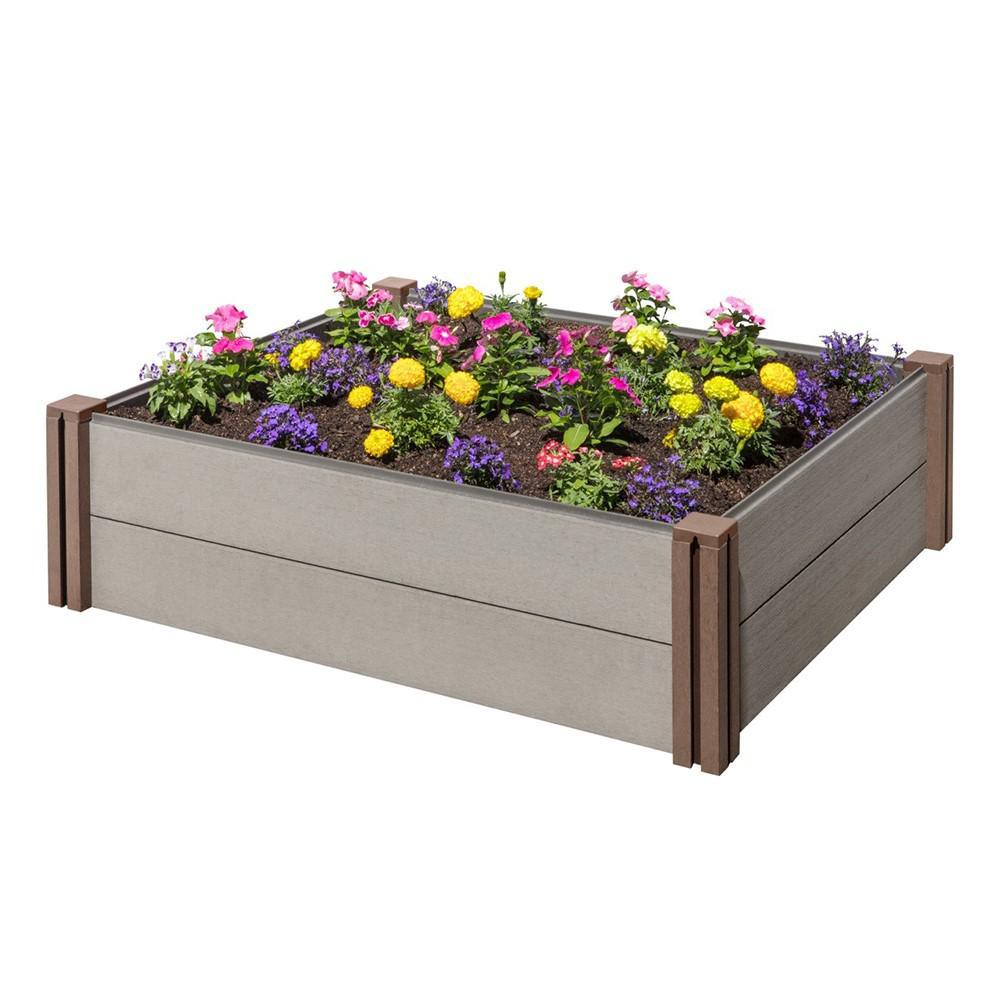 Stratco Composite Modular Wood Plastic Raised Garden Bed