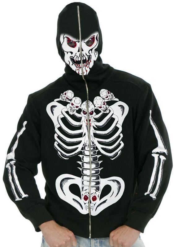 Six Pack Of Skulls Skeleton Hoodie #Día de los Muertos #day of the dead #dia de muertos