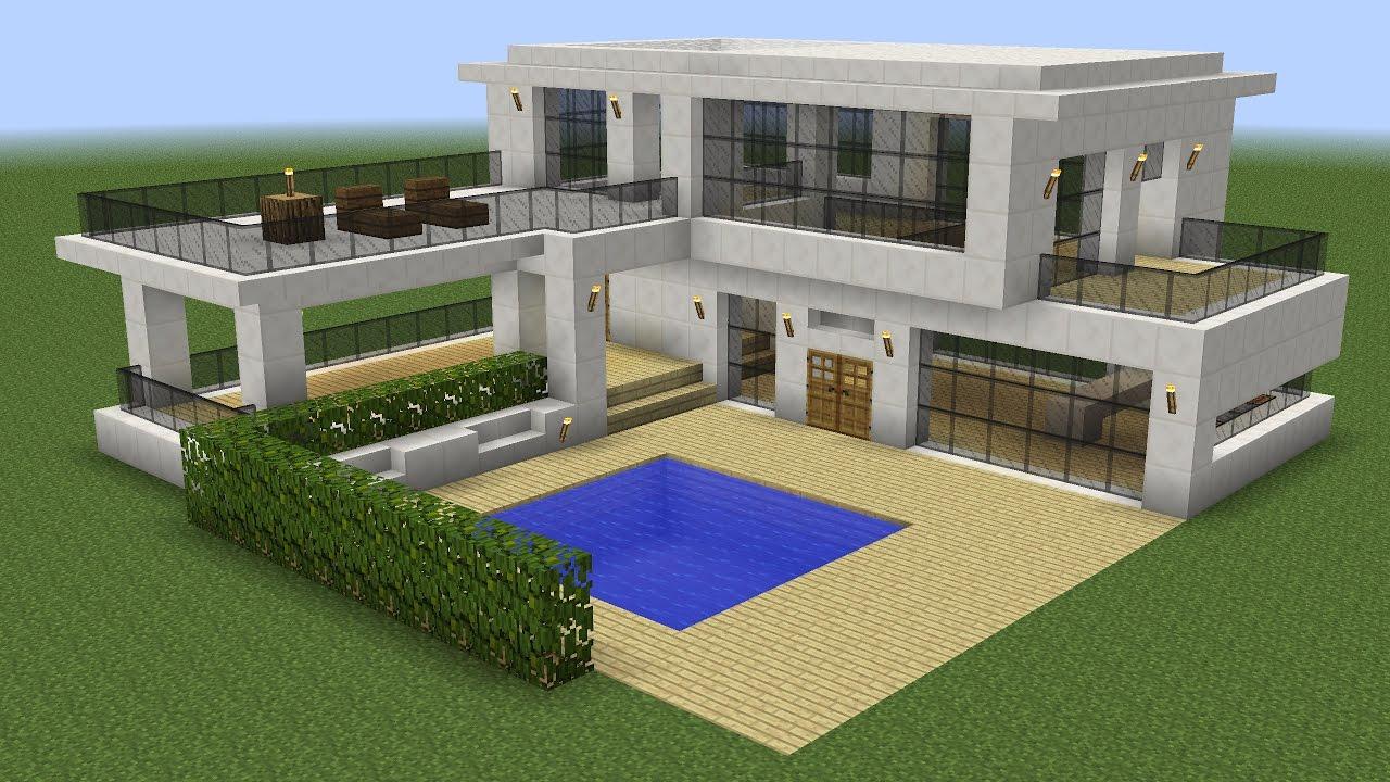 Construction D Une Maison Moderne A Minecraft Maison Zenidees Maison Moderne Modele Maison Moderne Maison Minecraft