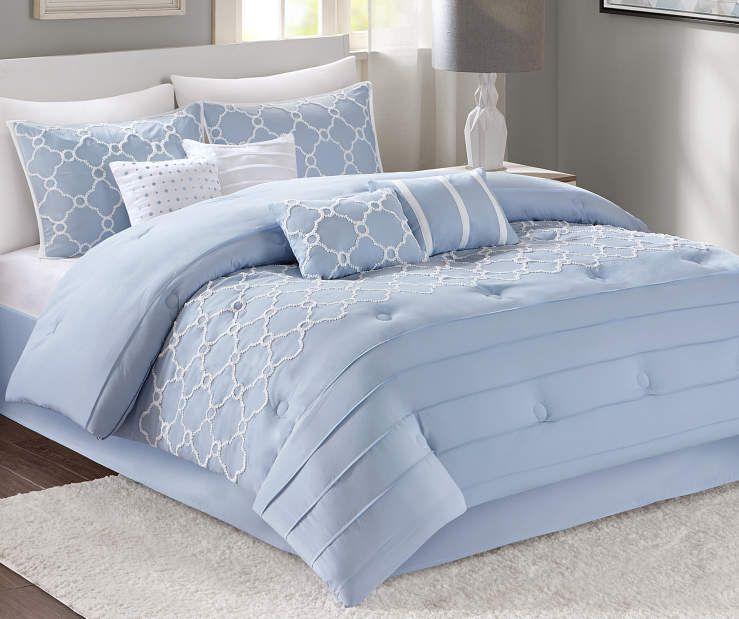 Aprima Penelope Ice Blue 8 Piece Comforter Sets At Big Lots