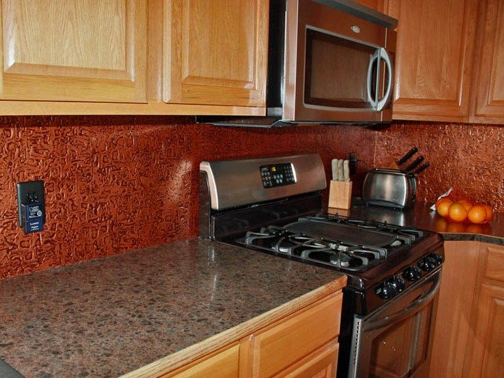 Kitchen Backsplash Rolls Digital Timers Wc40 Antique Copperfaux Tin Roll Faux Are Made Out Of 0 35 Mm Vinyl Pvc It Is Durable Washable Material That Can Withstand