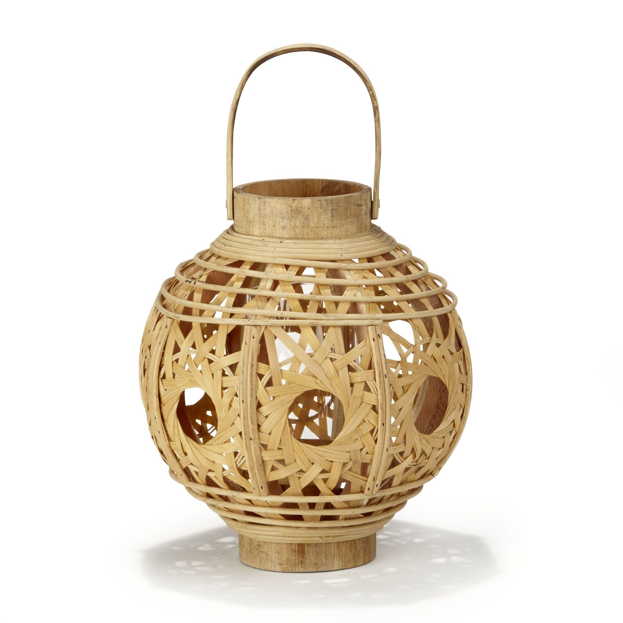 Lanterne ronde en bambou bambou martha les objets - Lanterne interieur decoration ...