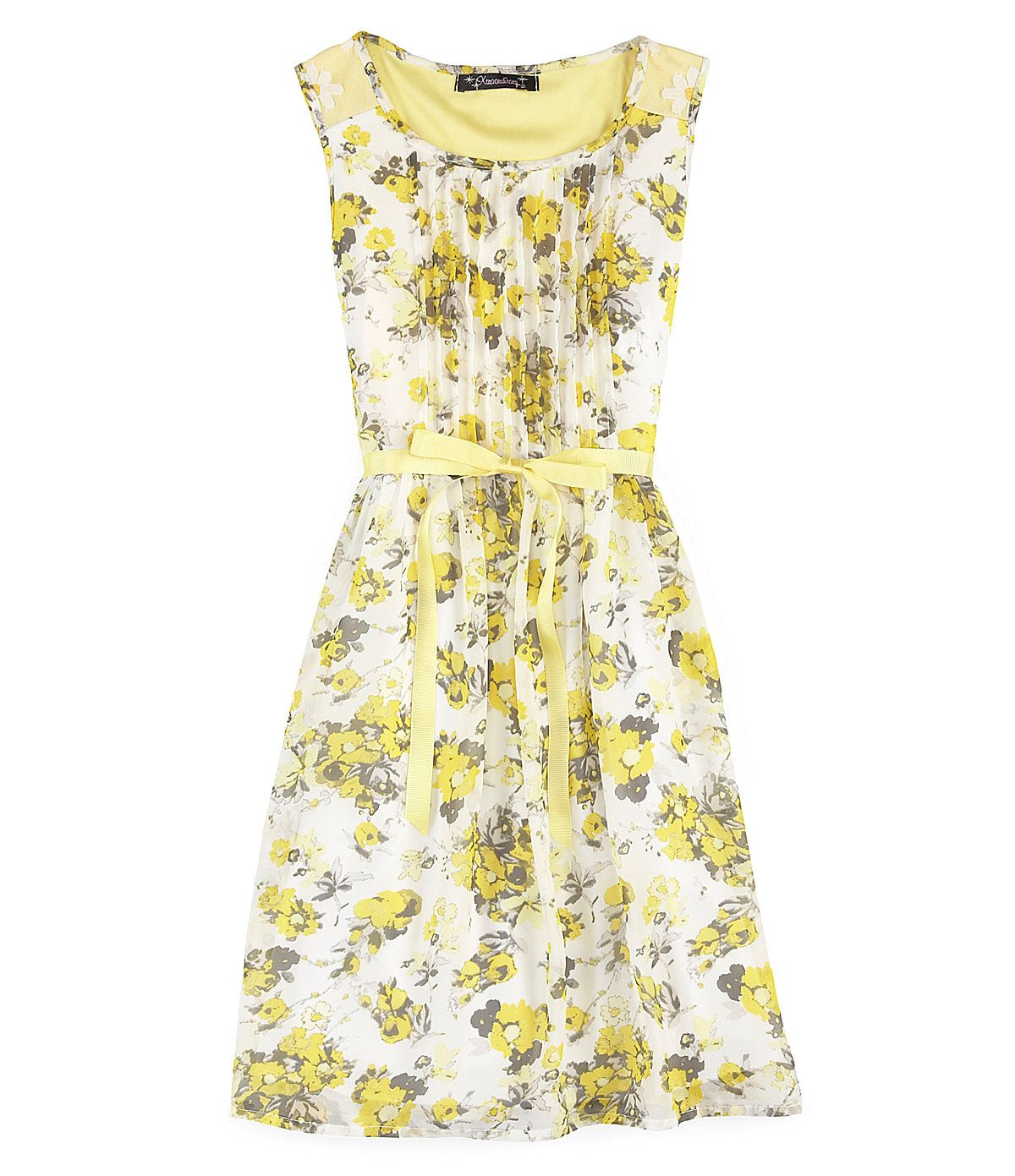 Xtraordinary floralditsyprint chiffon dress dillards