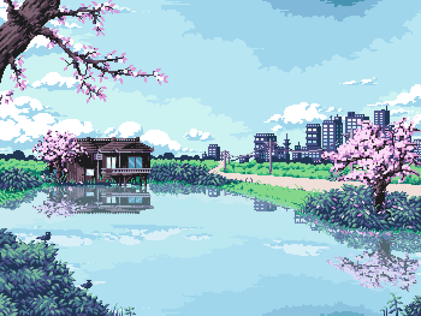 Login Or Sign Up Pixel Art Landscape Pixel Art Anime Pixel Art