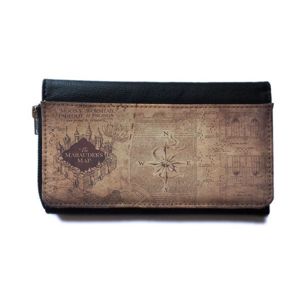 Harry Potter Marauders map wallet (space to keep iphone, smartphone)... (£28) ❤ liked on Polyvore featuring accessories and tech accessories