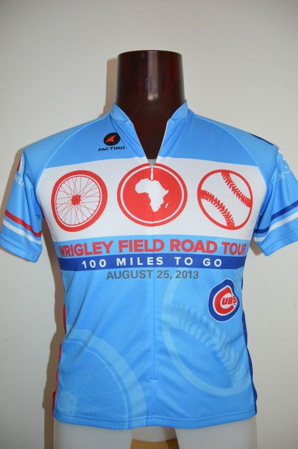 official photos 17713 8c692 Wrigley Field Road Tour bike cycling jersey Chicago Cubs ...