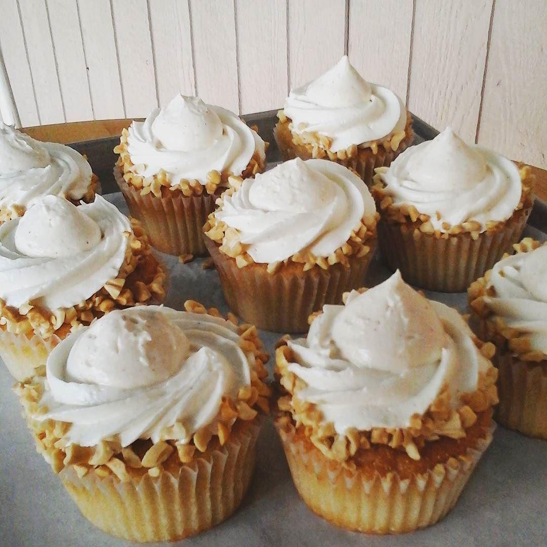 Soft and crunchy dairyfree Peanut Butter Crunch cupcake