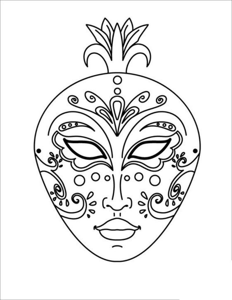 Maski Weneckie Karnawal Maski Karnawalowe Wycinanki Coloring Mask Coloring Pages Free Coloring Pages