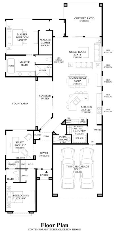 Alegre Floor Plan Craftsman Floor Plans Luxury House Plans Floor Plans