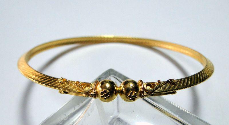 22 carat solid gold handmade bangle chudee bracelet 916