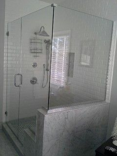 Example Of Glass Walls That Step Down Shower Doors Shower