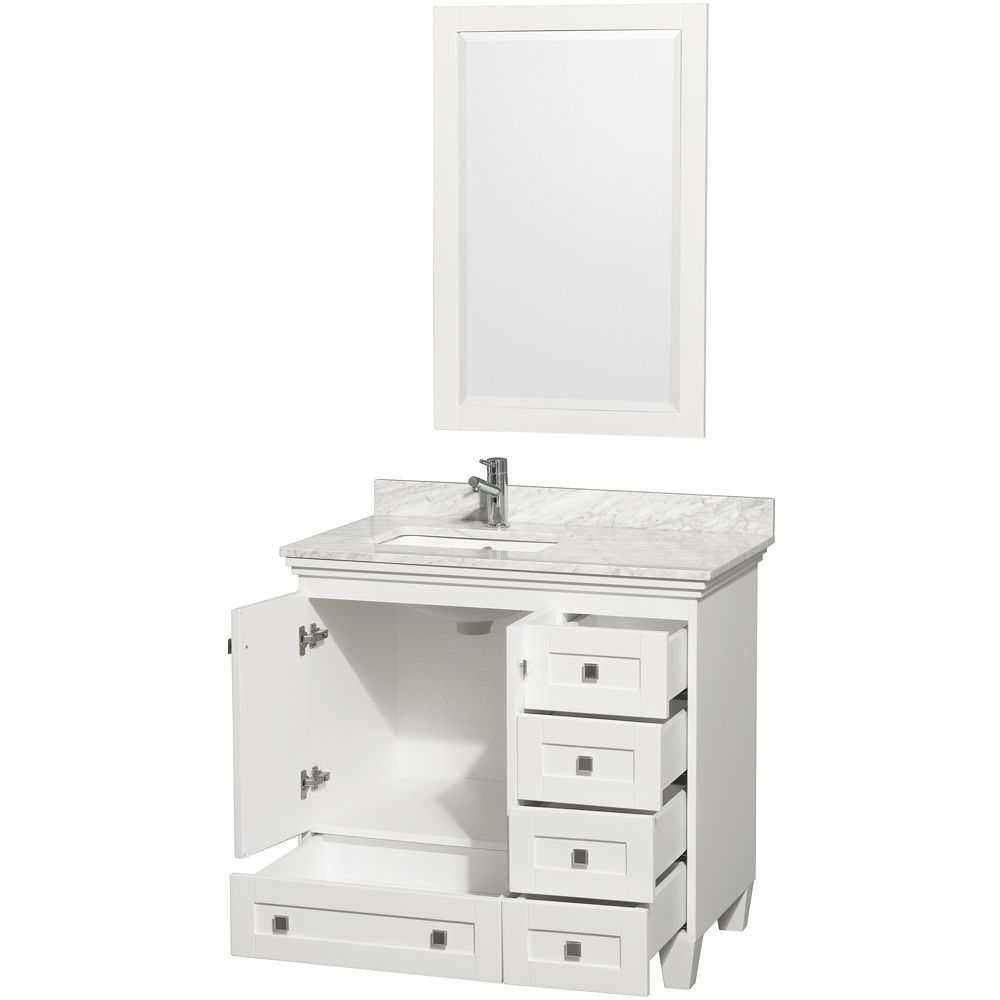 Acclaim Single Bath Vanity White Bath Vanities Vanities - Bathroom vanities 36 inches wide for bathroom decor ideas