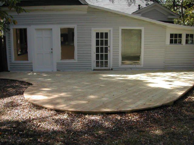 Backyard Deck Ideas Ground Level Google Search House