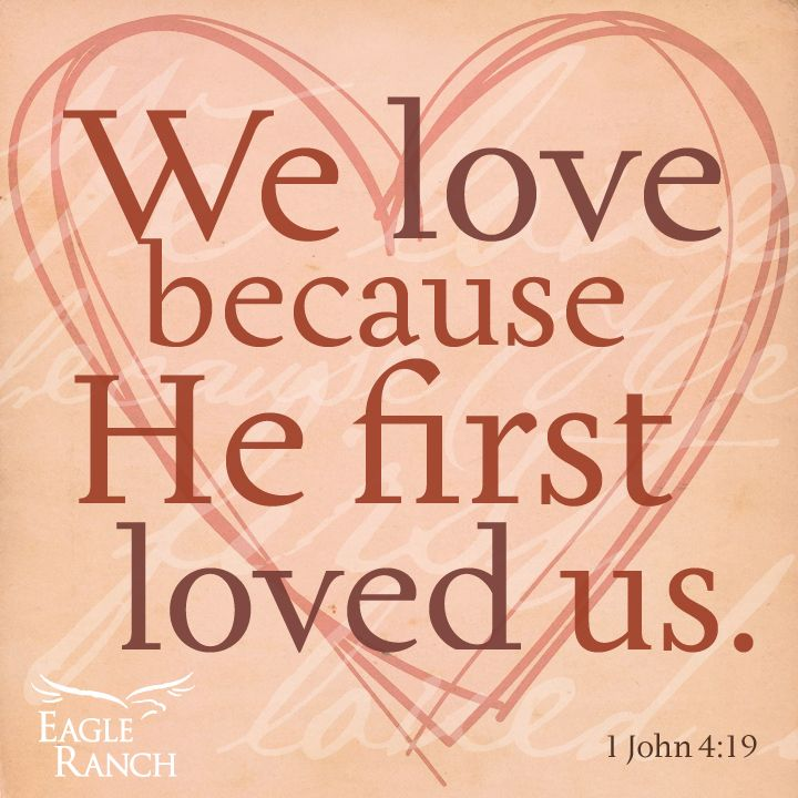 We love because He first loved us. We believe in fairy