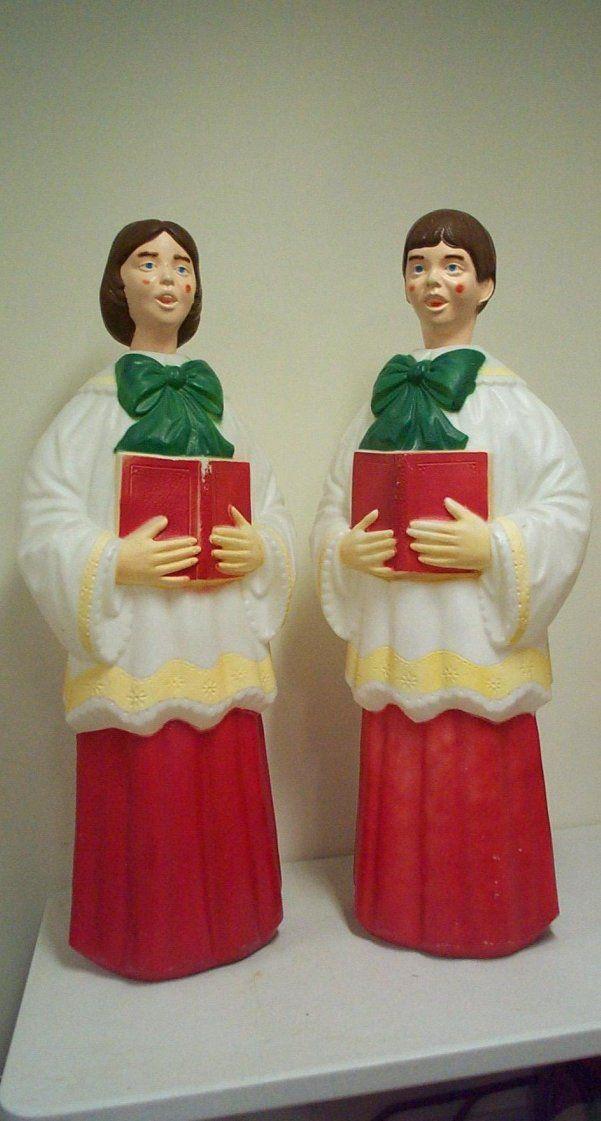 vintage christmas blow mold empire plastic singing choir very rare - Vintage Christmas Blow Molds