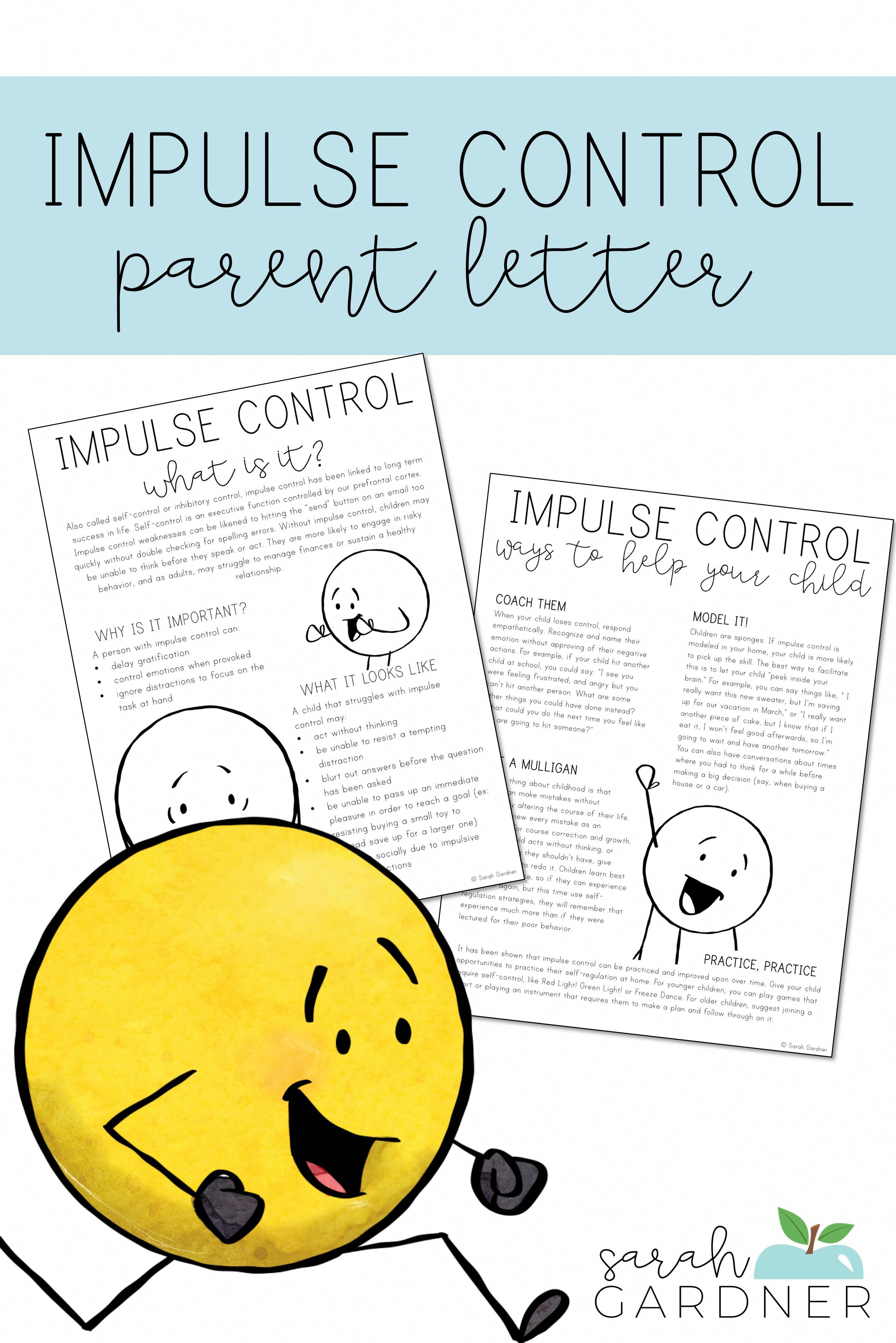 Impulse Control Parent Letter