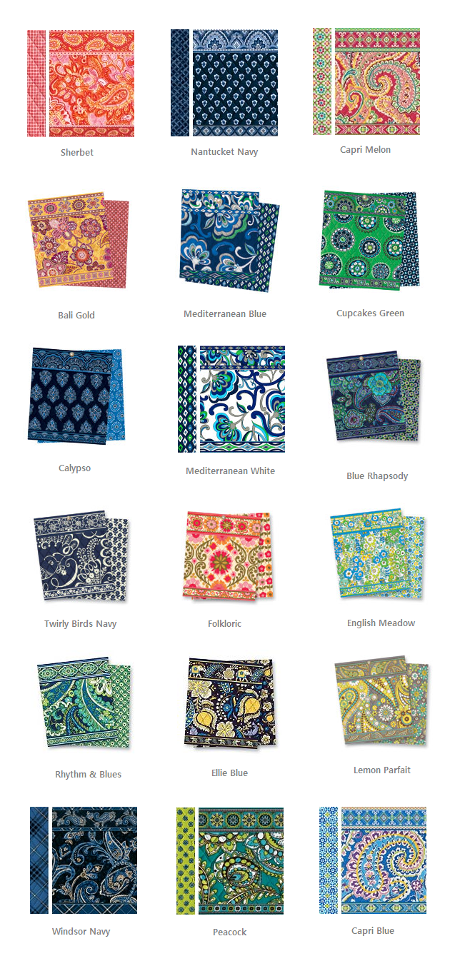 c31c83eb249 Vera Bradley retired colors. Available at silktraveler.com    myvera.ecrater.com