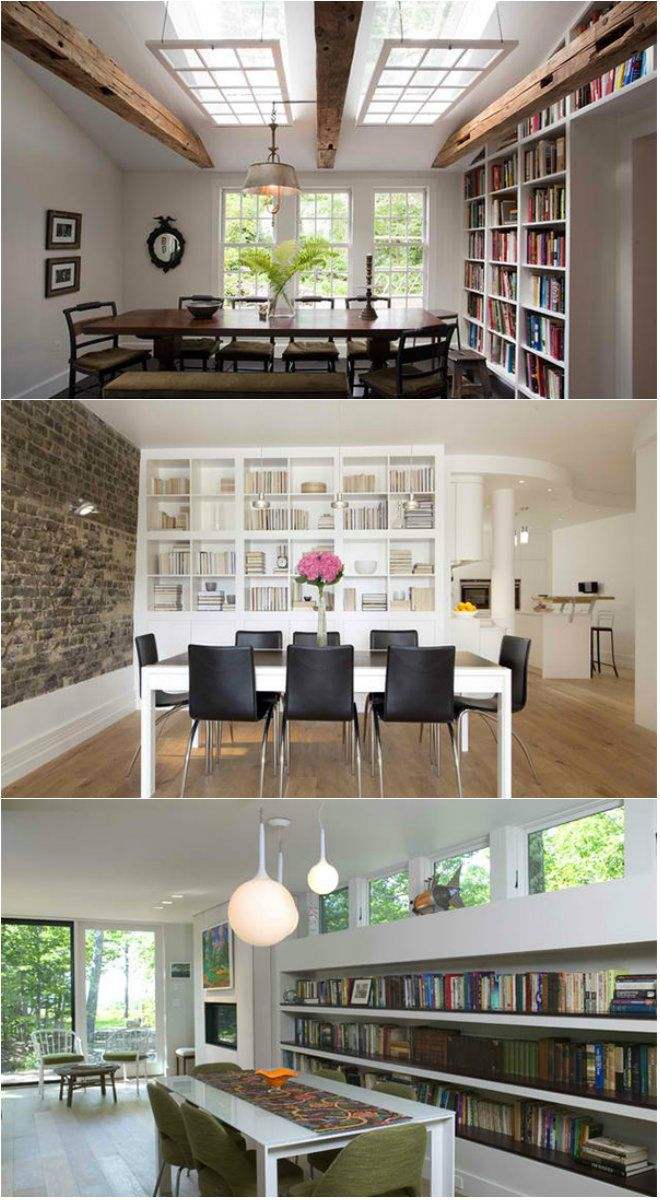 15 Ideas for Adding Bookshelves in the Dining Room Have you heard of ...