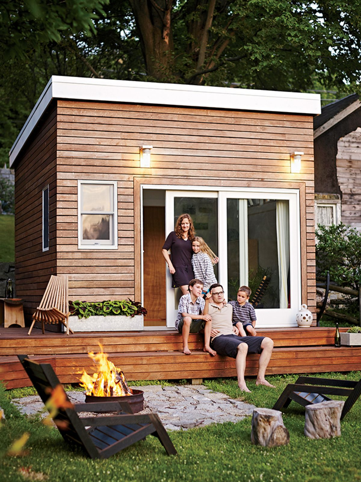 Photo 1 of 8 in A Family Builds a Tiny Backyard Studio on an Even… Tiny  Little HousesSmall ... - Photo 1 Of 8 In A Family Builds A Tiny Backyard Studio On An Even