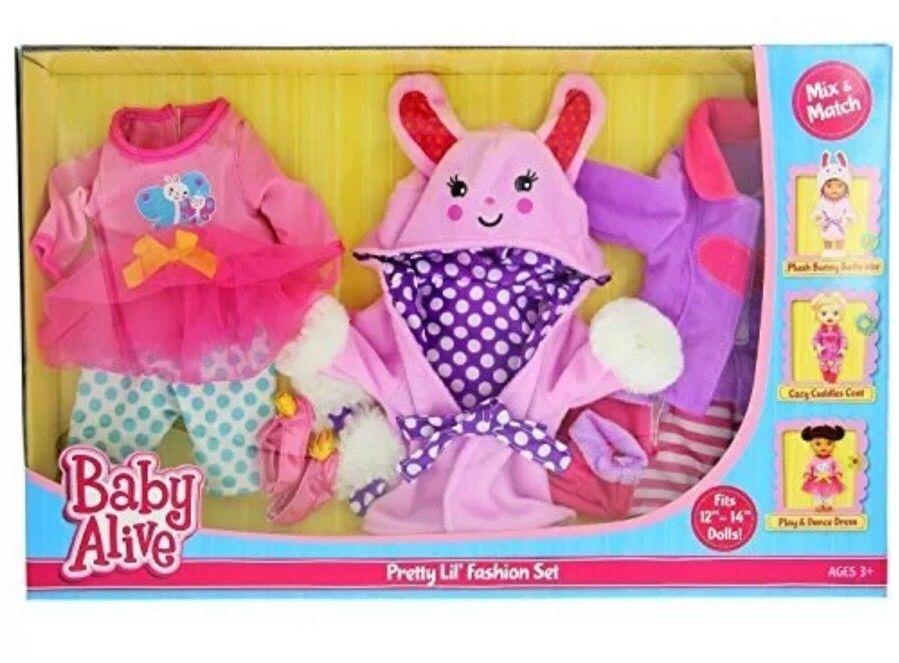 Baby Alive Pretty Lil Fashion Clothing Set 3 Mix N Match ...