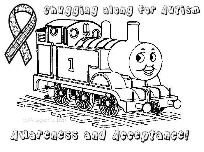 #ThomasTheTrain #autism coloring page by A Legion for Liam